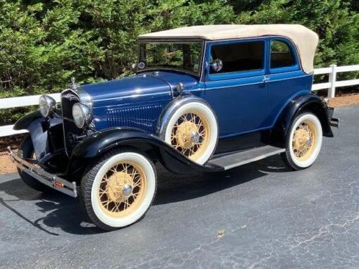 "1931 Ford Model ""A"" 400 A Convertible Sedan  $39,900"