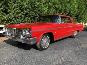 1964 Chevrolet Impala Super Sport Hardtop $36,900
