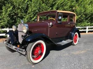 "1931 Ford Model ""A"" Victoria ""Leatherback""  $26,900"