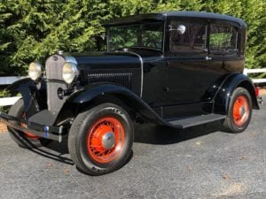 "1930 Ford Model ""A"" Tudor Sedan  $21,900"