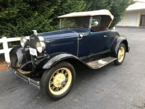 """1931 Ford Model """"A"""" Deluxe Roadster- $17,900"""