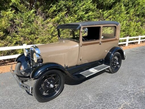 "1929 Ford Model ""A"" Tudor (2-Door) Sedan  $14,900"