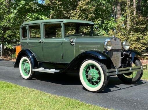"""1930 Ford Model """"A"""" Deluxe 4-Door  $14,800"""